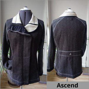 Ascend Jacket w/Convertible Collar & Double Zipper